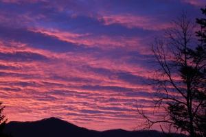 Sunrise over the blue ridge